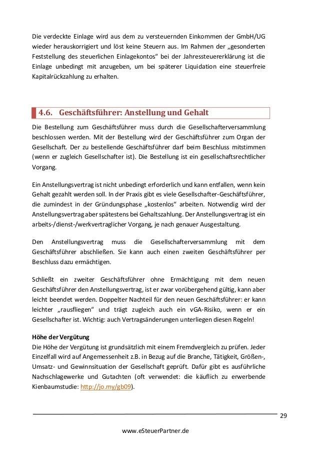esteuerpartnerde 37 - Abberufung Geschaftsfuhrer Muster