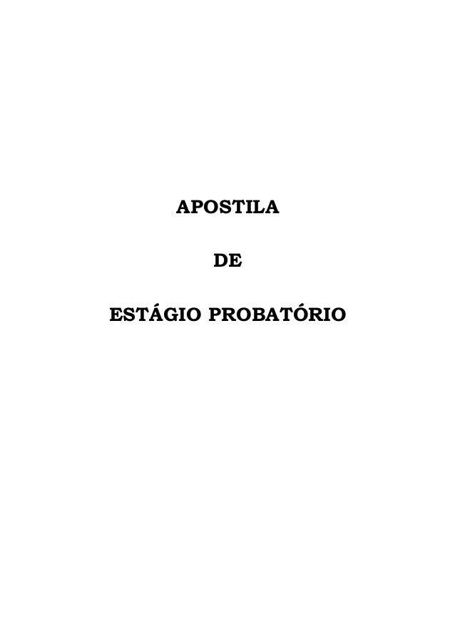 APOSTILA DE ESTÁGIO PROBATÓRIO