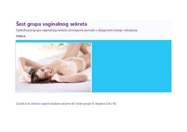 Šest grupa vaginalnog sekreta Određivanje grupe vaginalnog sekreta umnogome pomaže u dijagnosticistanja i oboljenja. PODEL...