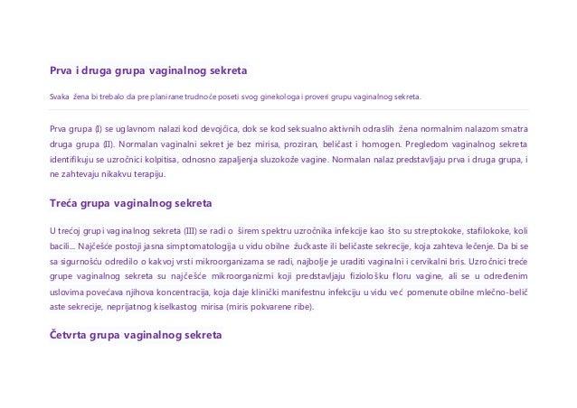 Šest grupa vaginalnog sekreta  Slide 2