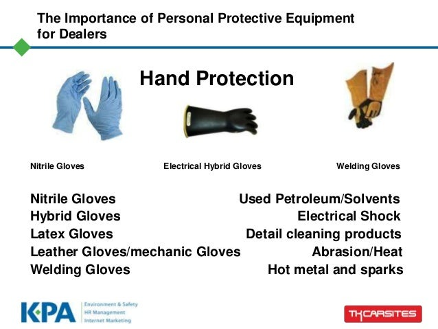 the importance of personnel protective equipment ppt Personal protective equipment (ppe) is specific safety gear, which workers may be advised or required to wear, depending upon the nature of their work or workplace regulations governing the use of ppe are generally implemented to address a specific.