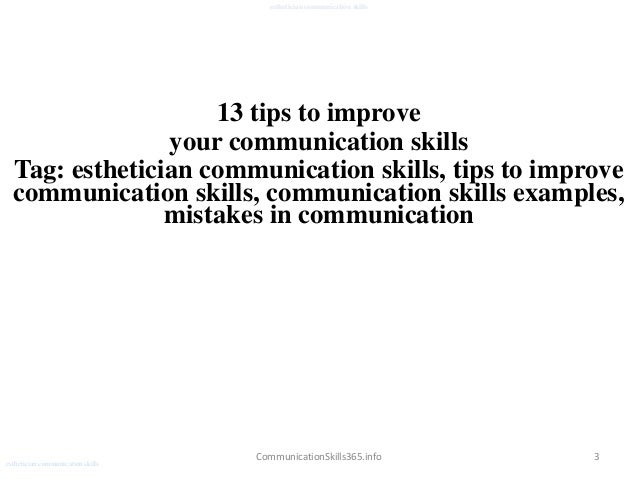esthetician communication skills pdf