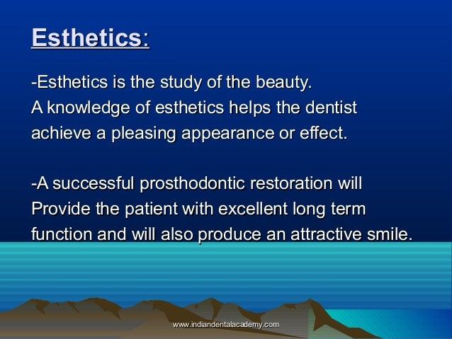 Esthetics In Fpd Oral Surgery Courses
