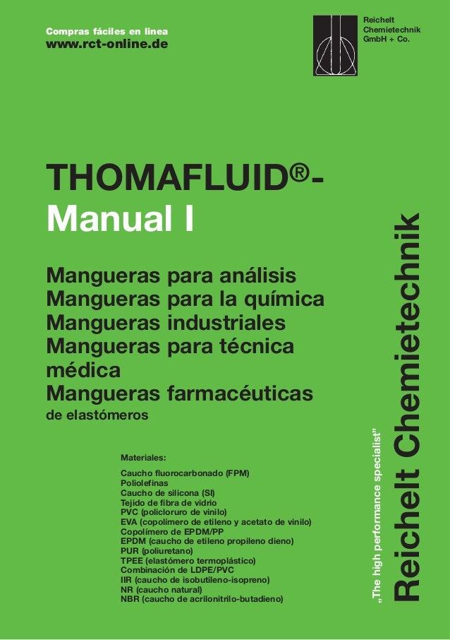 THOMAFLUID®- Manual I Mangueras para análisis Mangueras para la química Mangueras industriales Mangueras para técnica médi...