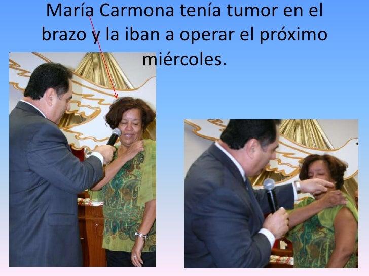 María Carmona tenía tumor en el brazo y la iban a operar el próximo miércoles.<br />