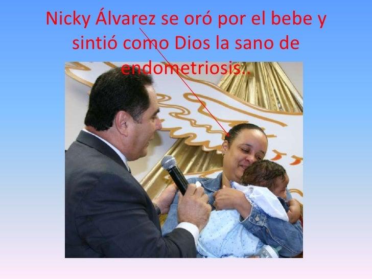 Nicky Álvarez se oró por el bebe y sintió como Dios la sano de endometriosis..<br />