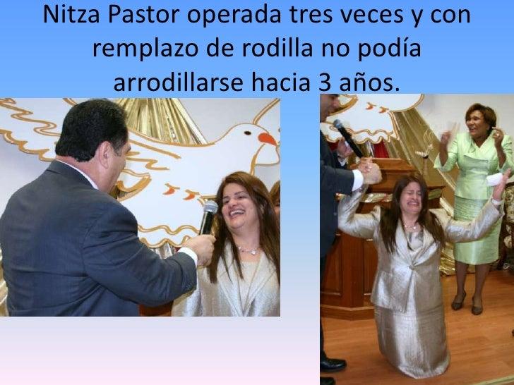 Nitza Pastor operada tres veces y con remplazo de rodilla no podía arrodillarse hacia 3 años.<br />