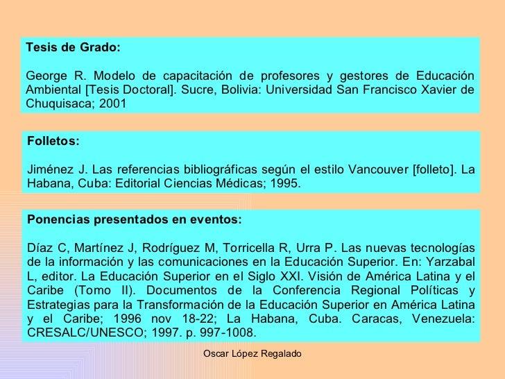 Tesis de Grado: George R. Modelo de capacitación de profesores y gestores de Educación Ambiental [Tesis Doctoral].  Sucre,...