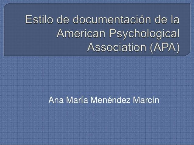 Ana María Menéndez Marcín