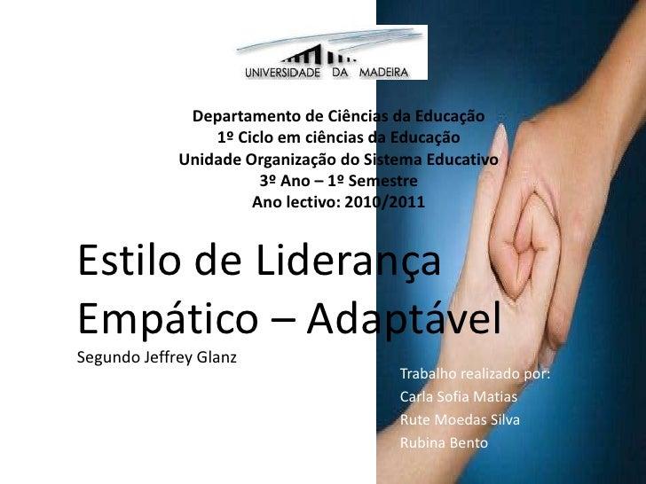 Departamento de Ciências da Educação<br />1º Ciclo em ciências da Educação<br />Unidade Organização do Sistema Educativo<b...