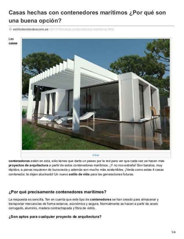 Casas hechas con contenedores mar timos por qu son una buena opcio - Casas hechas con contenedores maritimos ...