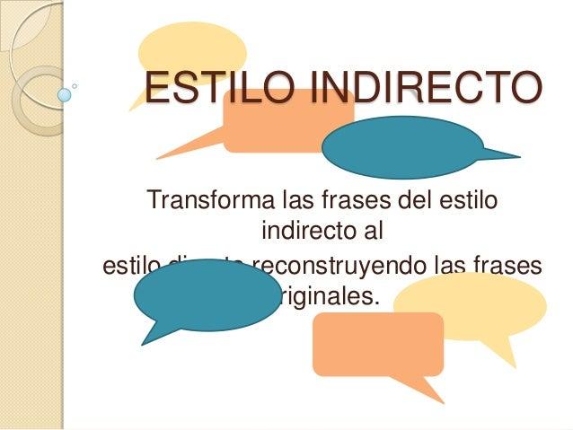 Eestilo Directo E Indirectohispanistas De Agadir