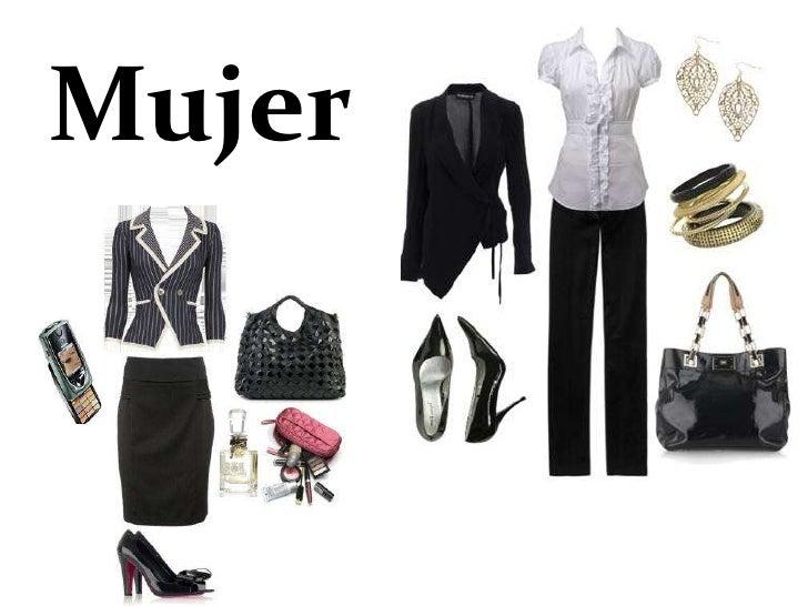 •   El guardarropa mínimo de una ejecutiva está formado por:     – dos trajes sastre     – seis blusas     – tres camisera...