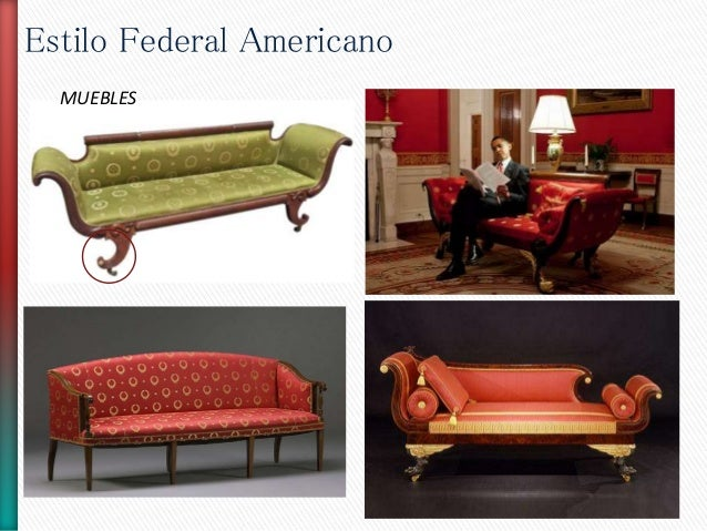 Estilo federal americano for Muebles americanos