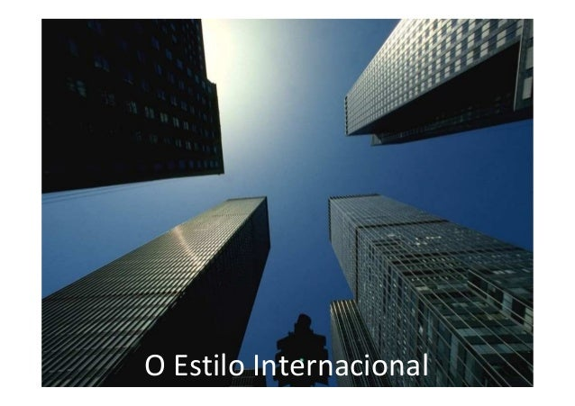 O Estilo Internacional