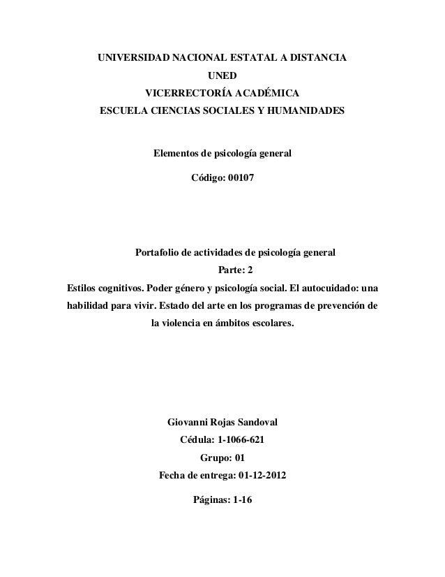UNIVERSIDAD NACIONAL ESTATAL A DISTANCIA UNED VICERRECTORÍA ACADÉMICA ESCUELA CIENCIAS SOCIALES Y HUMANIDADES Elementos de...