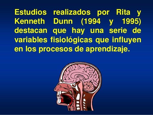Estudios realizados por Rita y Kenneth Dunn (1994 y 1995) destacan que hay una serie de variables fisiológicas que influye...