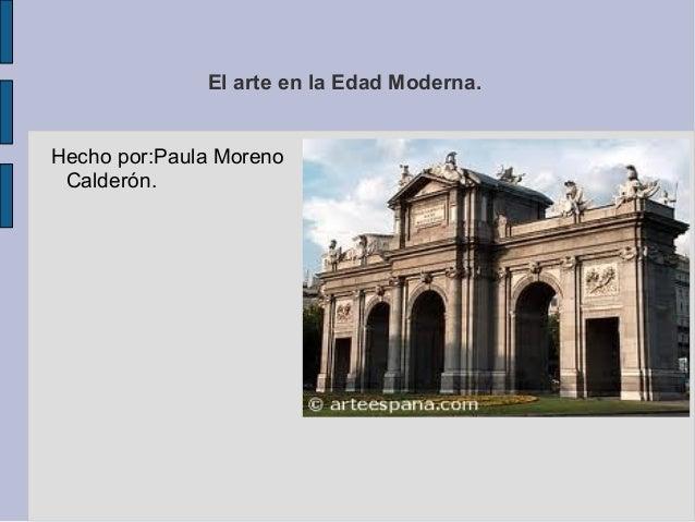 Estilos de arquitectura en la edad moderna paula for Estilos de arquitectura contemporanea
