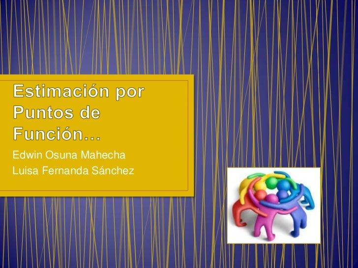Edwin Osuna MahechaLuisa Fernanda Sánchez