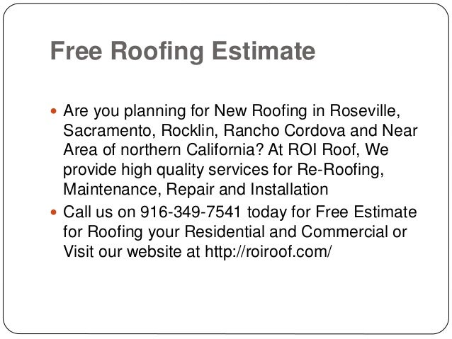 7. Free Roofing ...