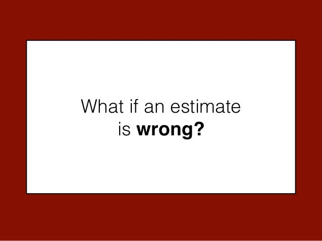 how to do an estimate