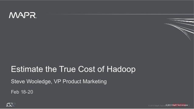 ® © 2015 MapR Technologies 1 ® © 2015 MapR Technologies Steve Wooledge, VP Product Marketing Feb 18-20