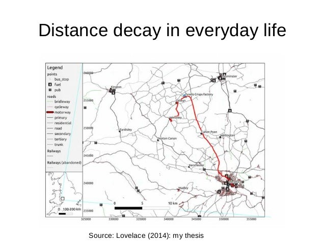 Estimating distance decay for the national propensity to