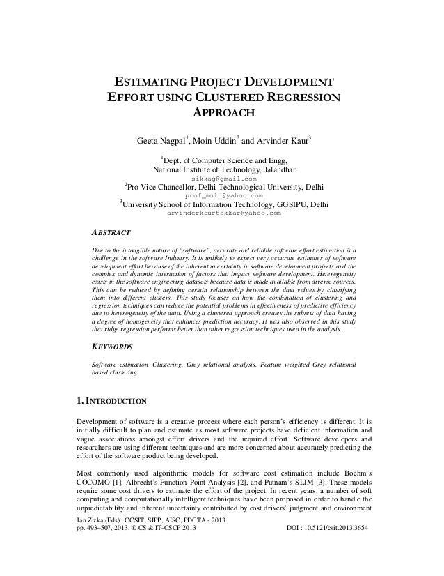 Jan Zizka (Eds) : CCSIT, SIPP, AISC, PDCTA - 2013 pp. 493–507, 2013. © CS & IT-CSCP 2013 DOI : 10.5121/csit.2013.3654 ESTI...