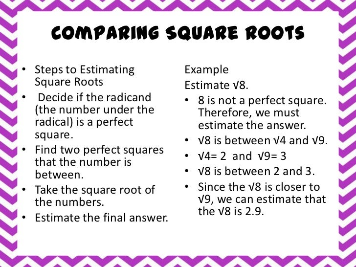 estimating square roots. Black Bedroom Furniture Sets. Home Design Ideas