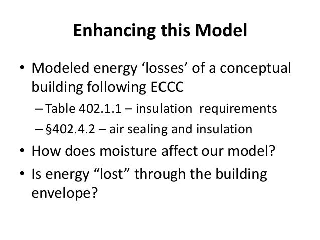 energy conservation model estimating the effects of energy conservation construction code