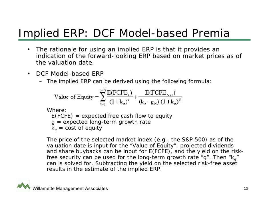 How to calculate implied long term growth rate - Capital