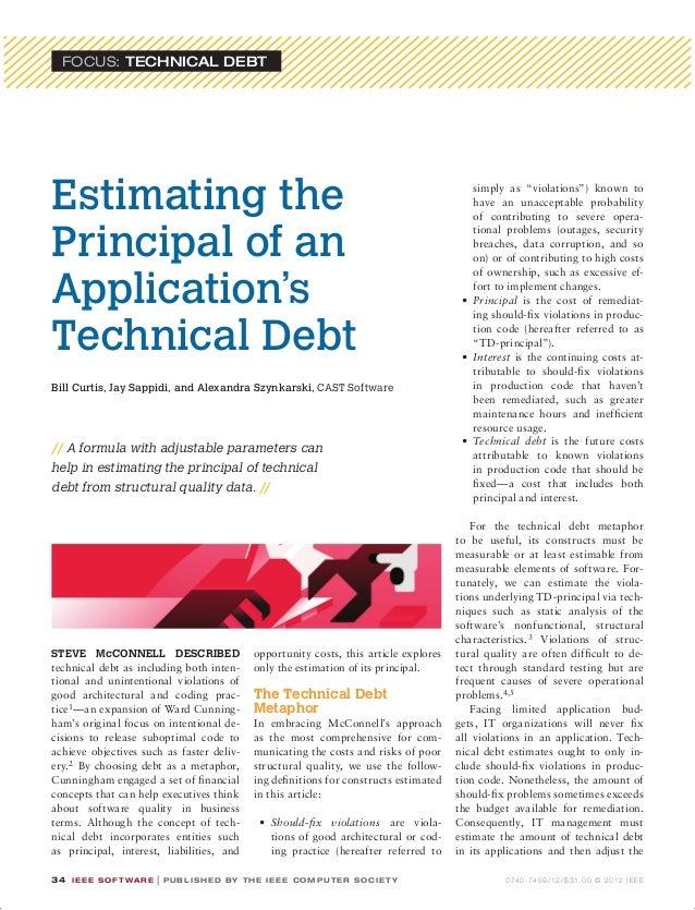 FOCUS: Technical Debt       Estimating the                                                                                ...