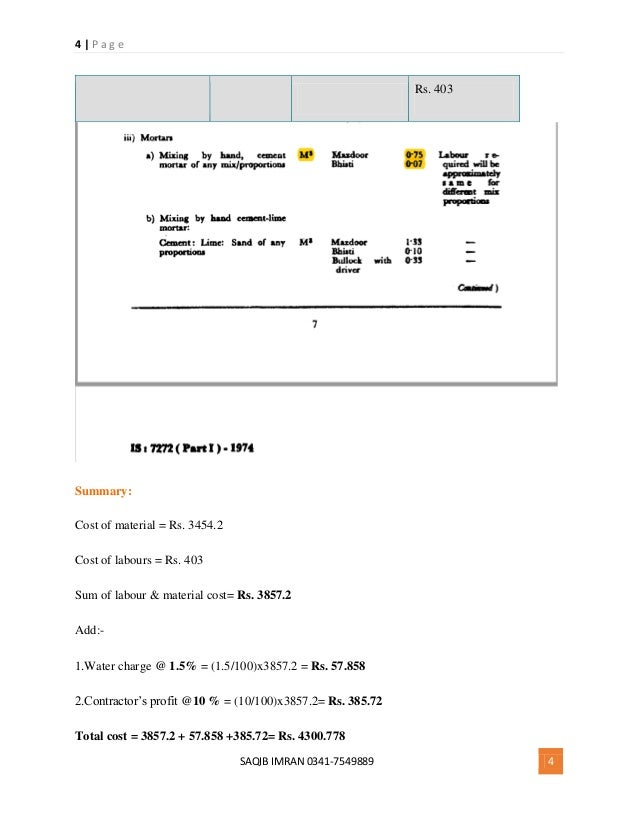 Estimating And Costing Pdf