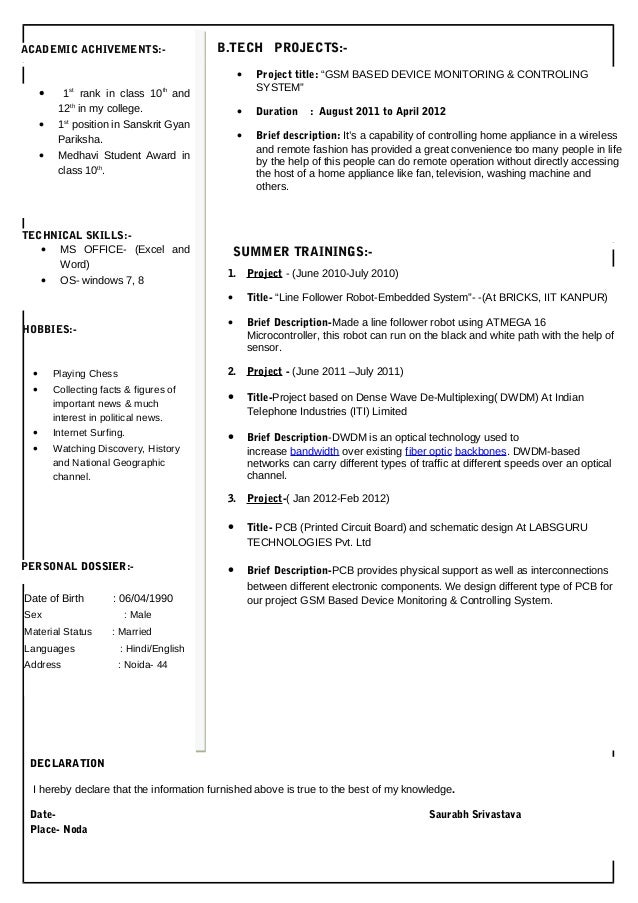 Different Types Of Resume Resume Formats Different Types Resume  Type A Resume