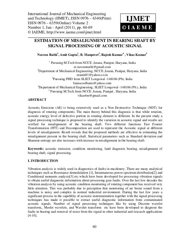 International Journal of Mechanical Engineering and Technology (IJMET), ISSN 0976 – 6340(Print),International Journal of M...