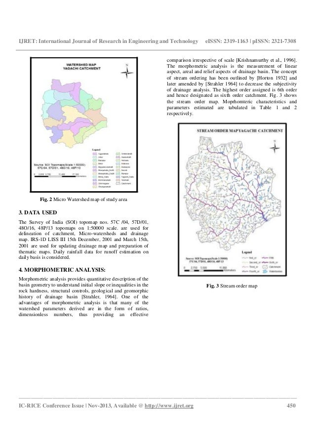 Estimation of morphometric parameters and runoff using rs & gis techniques Slide 2