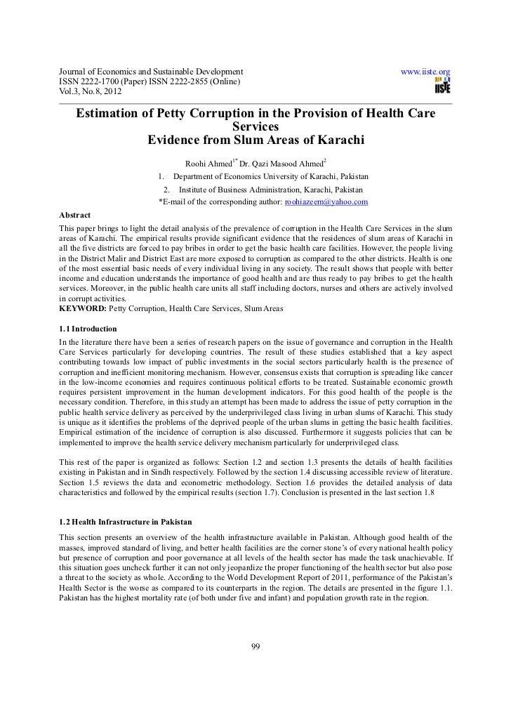 Journal of Economics and Sustainable Development                                                           www.iiste.orgIS...