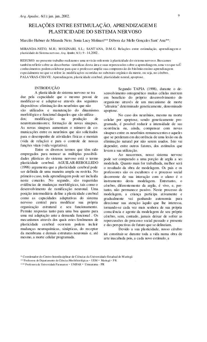 Arq. Apadec, 6(1): jan. jun.,2002.                                                                                 9      ...