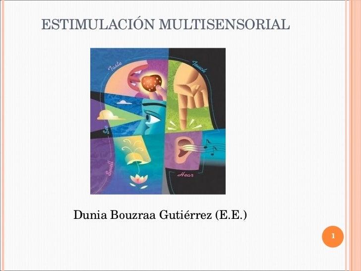 ESTIMULACIÓN MULTISENSORIAL Dunia Bouzraa Gutiérrez (E.E.)