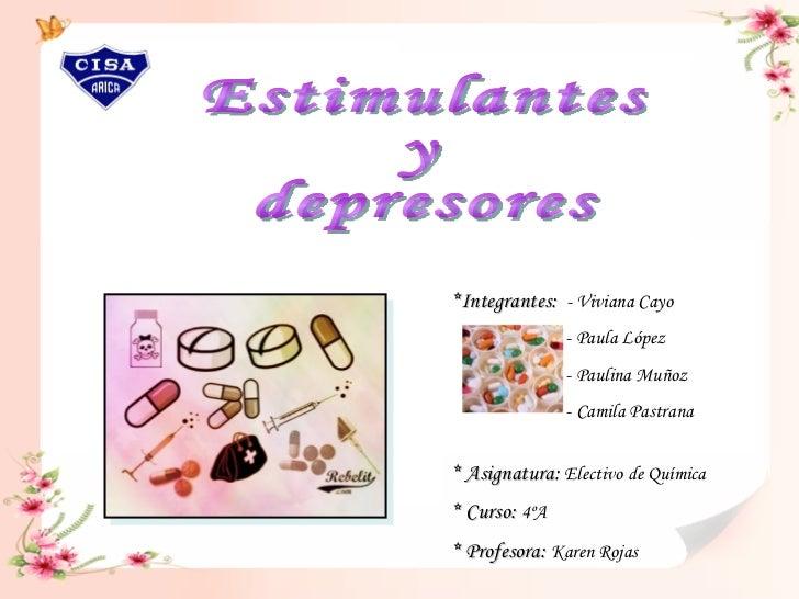 *Integrantes:  - Viviana Cayo  - Paula López - Paulina Muñoz - Camila Pastrana  * Asignatura:  Electivo de Química * Curso...
