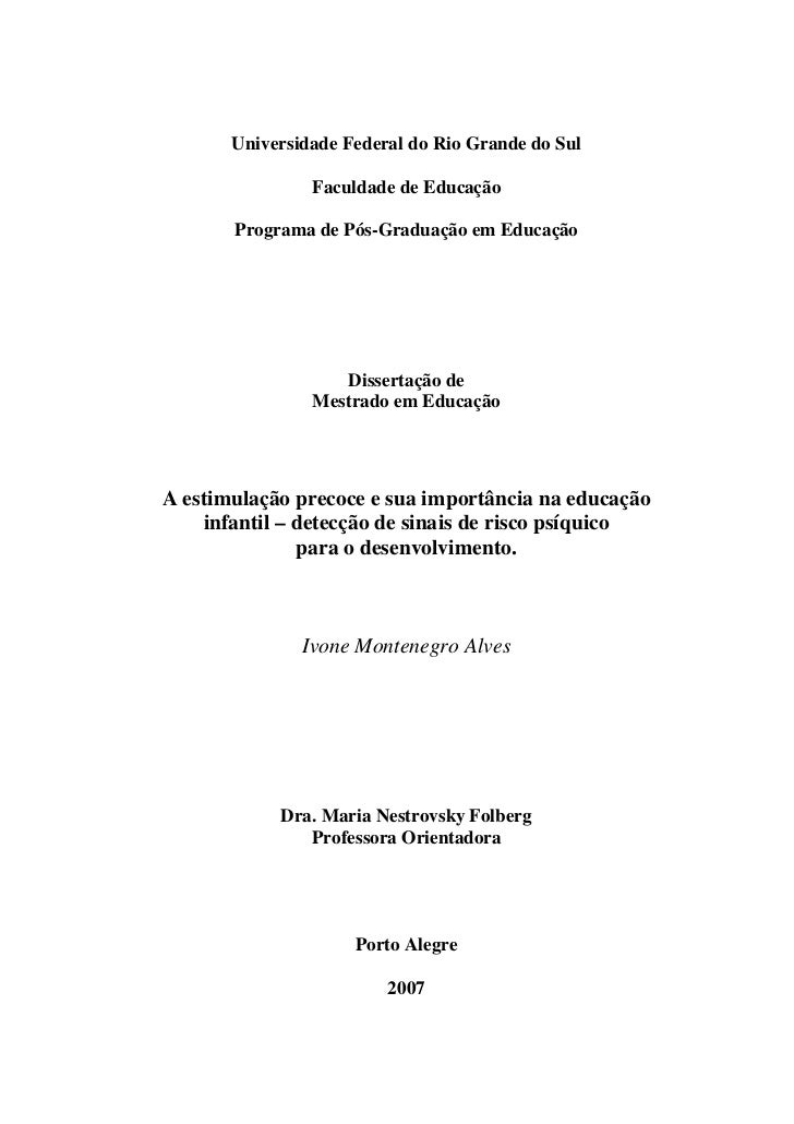 Universidade Federal do Rio Grande do Sul                  Faculdade de Educação         Programa de Pós-Graduação em Educ...