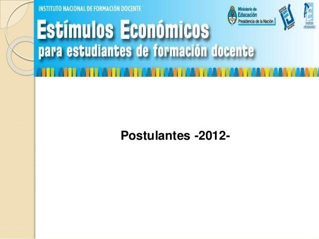 Postulantes -2012-