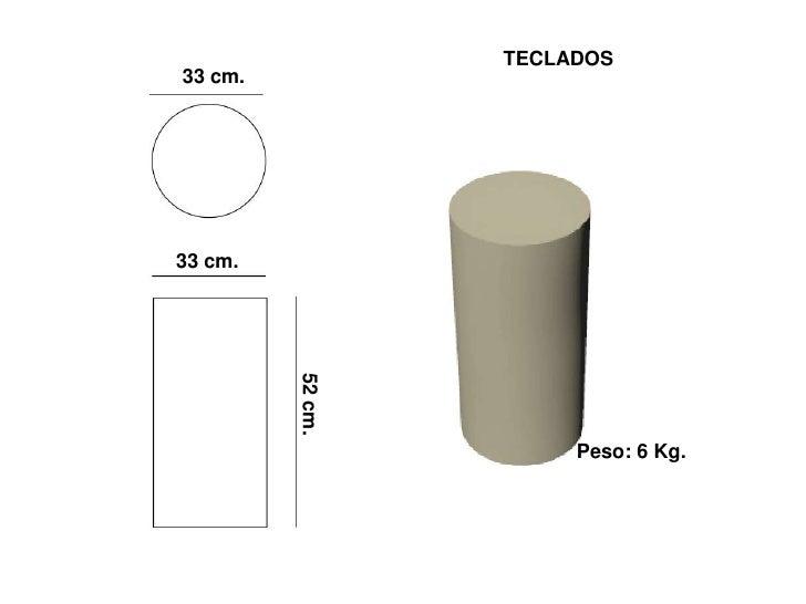 TECLADOS 33 cm.     33 cm.          52 cm.                            Peso: 6 Kg.