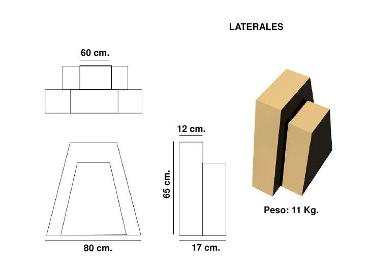 LATERALES  60 cm.                       12 cm.             65 cm.                                       Peso: 11 Kg.      ...