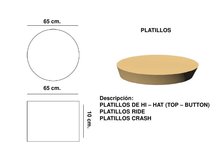 65 cm.                                PLATILLOS     65 cm.                   Descripción:                   PLATILLOS DE H...