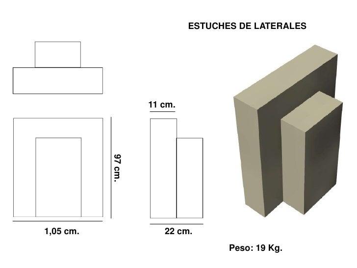ESTUCHES DE LATERALES                         11 cm.            97 cm.     1,05 cm.               22 cm.                  ...