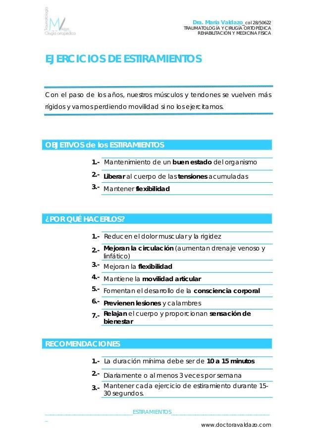 Dra. María Valdazo_col 28/50622 TRAUMATOLOGÍA Y CIRUGÍA ORTOPÉDICA REHABILITACIÓN Y MEDICINA FÍSICA SINDROME CINTILLA ILIO...