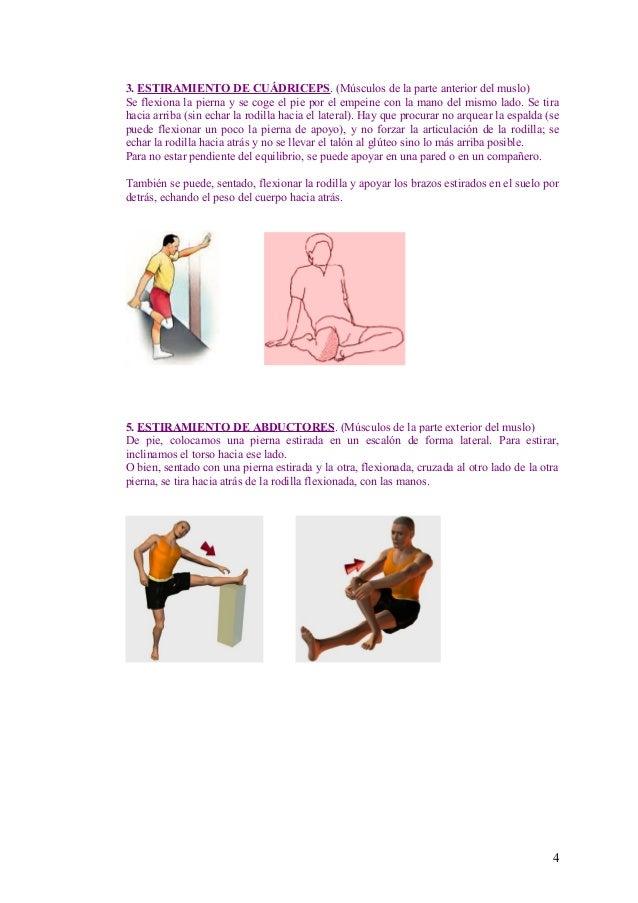 Estiramientos musculares y ejercicios