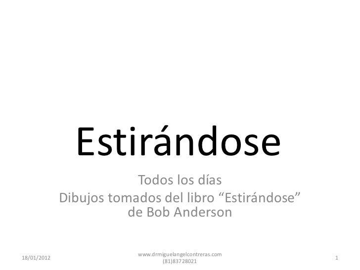 Estirandose (Incluye Dvd) .pdf descargar Bob Anderson - sandwettsmokan