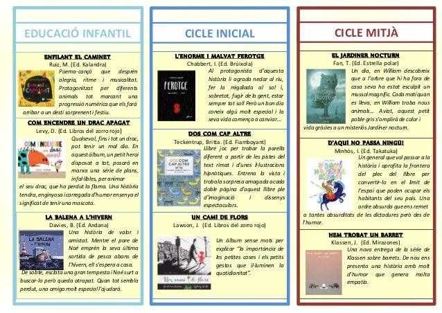 EDUCACIÓ INFANTIL CICLE INICIAL CICLE MITJÀ ENFILANT EL CAMINET Ruiz, M. (Ed. Kalandra) Poema-cançó que desprèn alegria, r...
